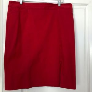 White House Black Market Red Skirt